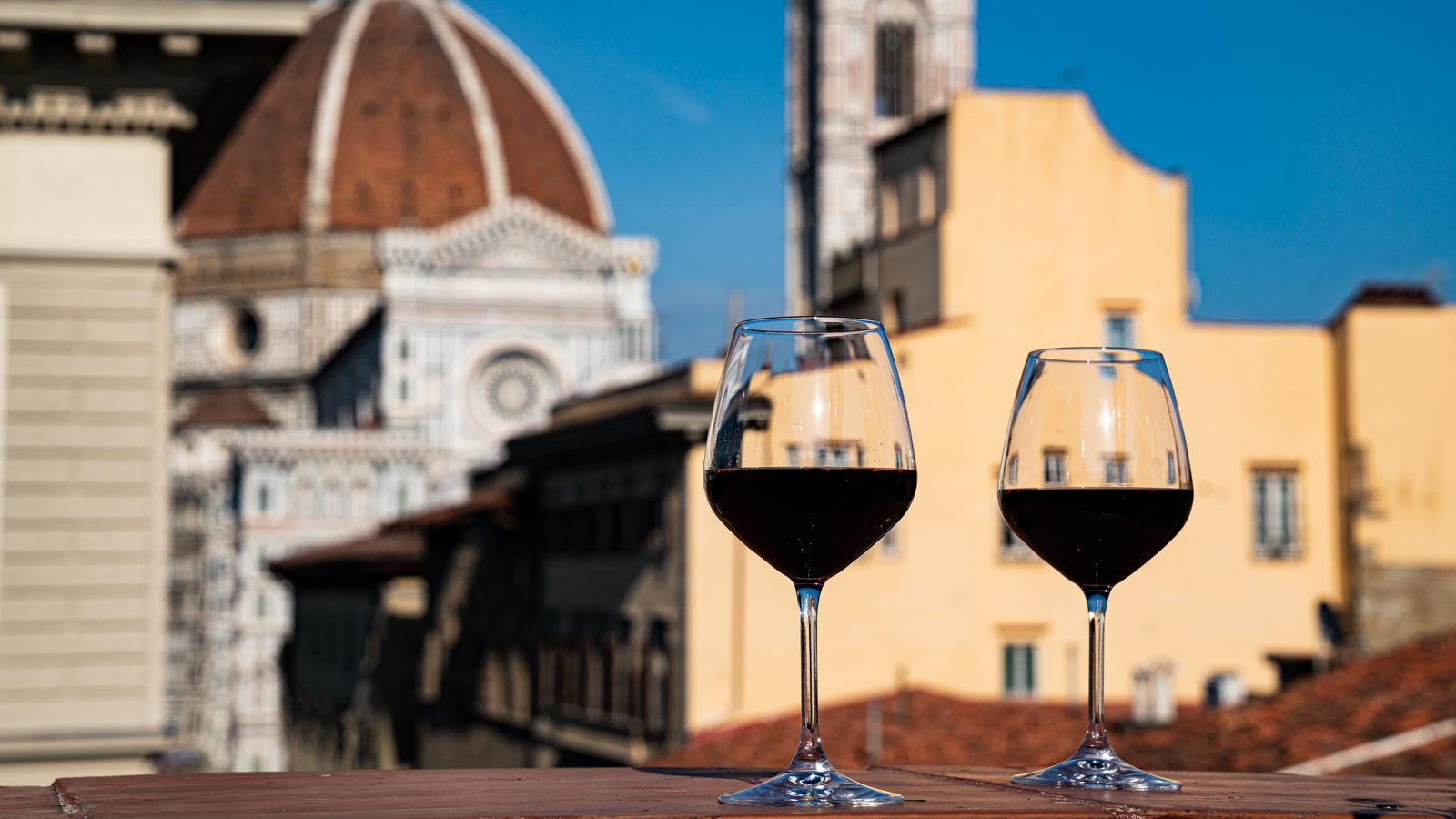 Hotel A Firenze Con Aperitivo Sulla Terrazza Con Vista Sul