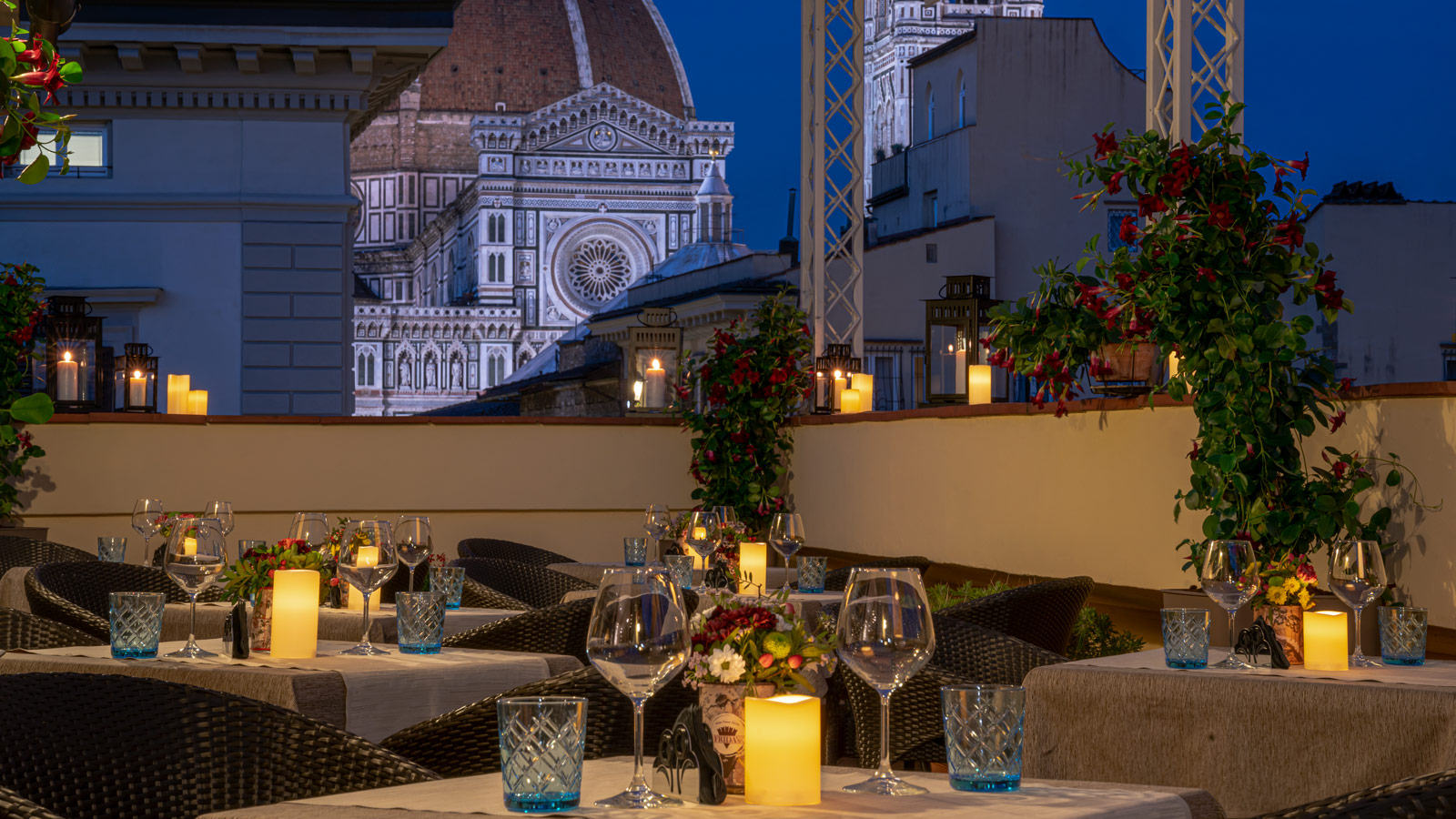 Hotel In Florence With Aperitif On The Terrace With View Of